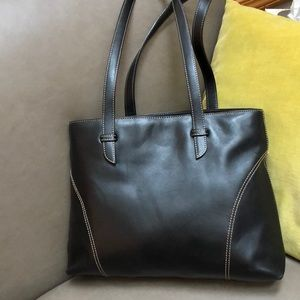 Nordstrom genuine leather, made in Italy black bag